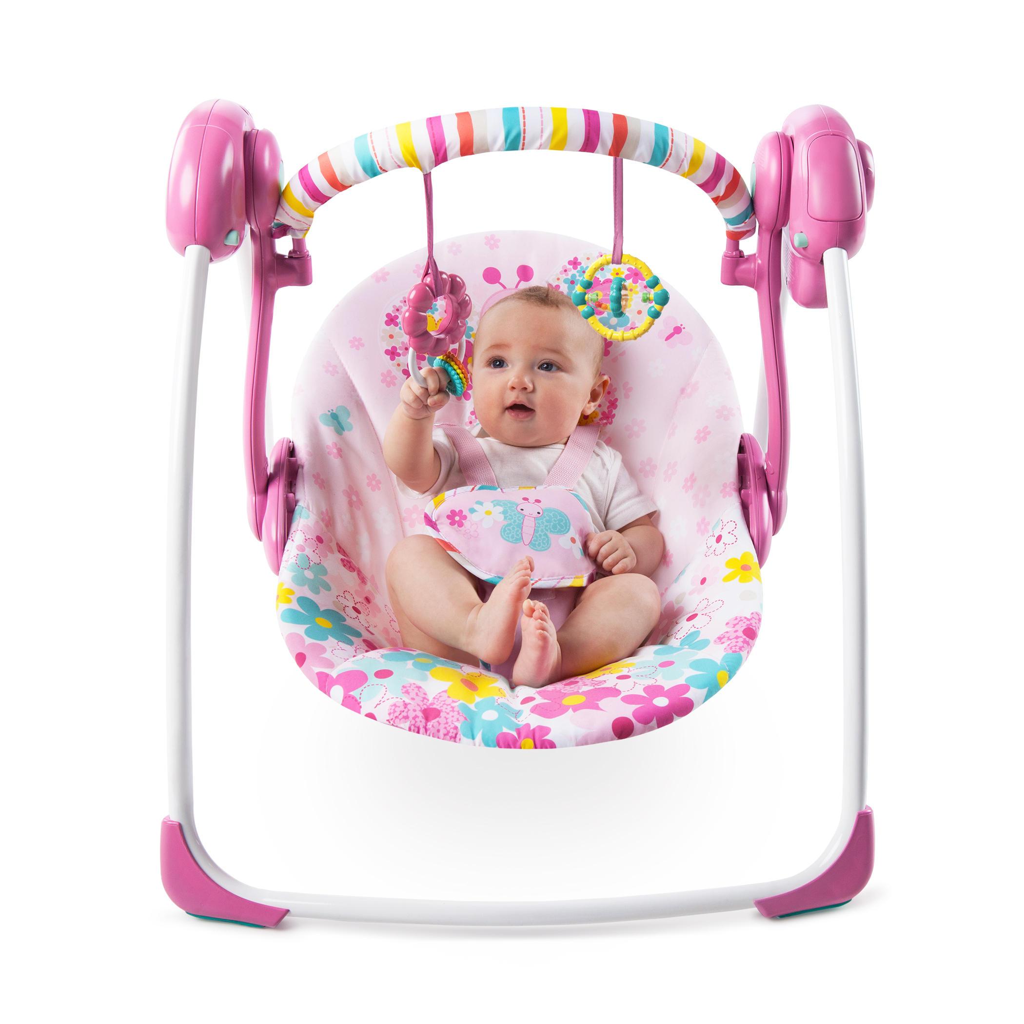 Pretty In Pink™ Butterfly Cutouts Portable Swing™