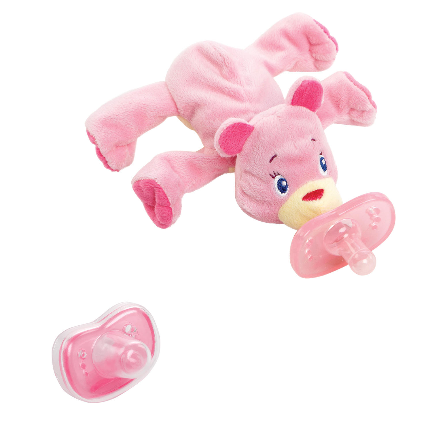 Cozy Coos Deluxe™ Pacifier – Pink Cub