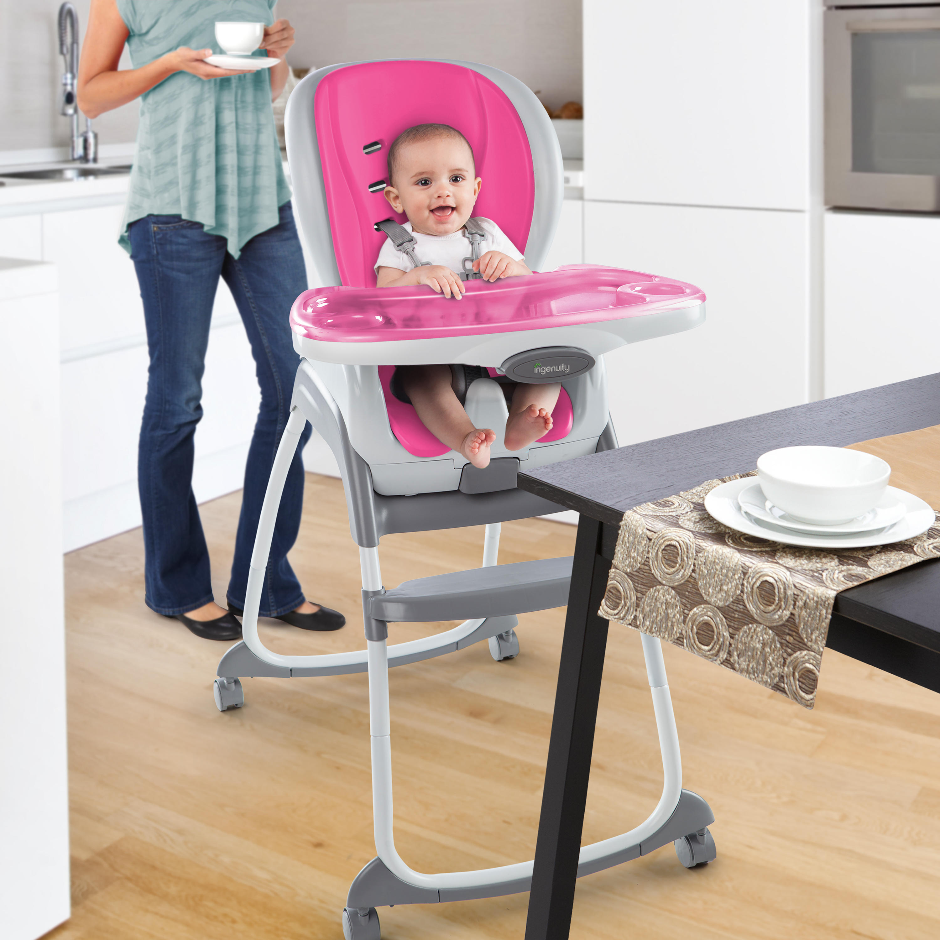 SmartClean Trio 3-in-1 High Chair™ - Magenta