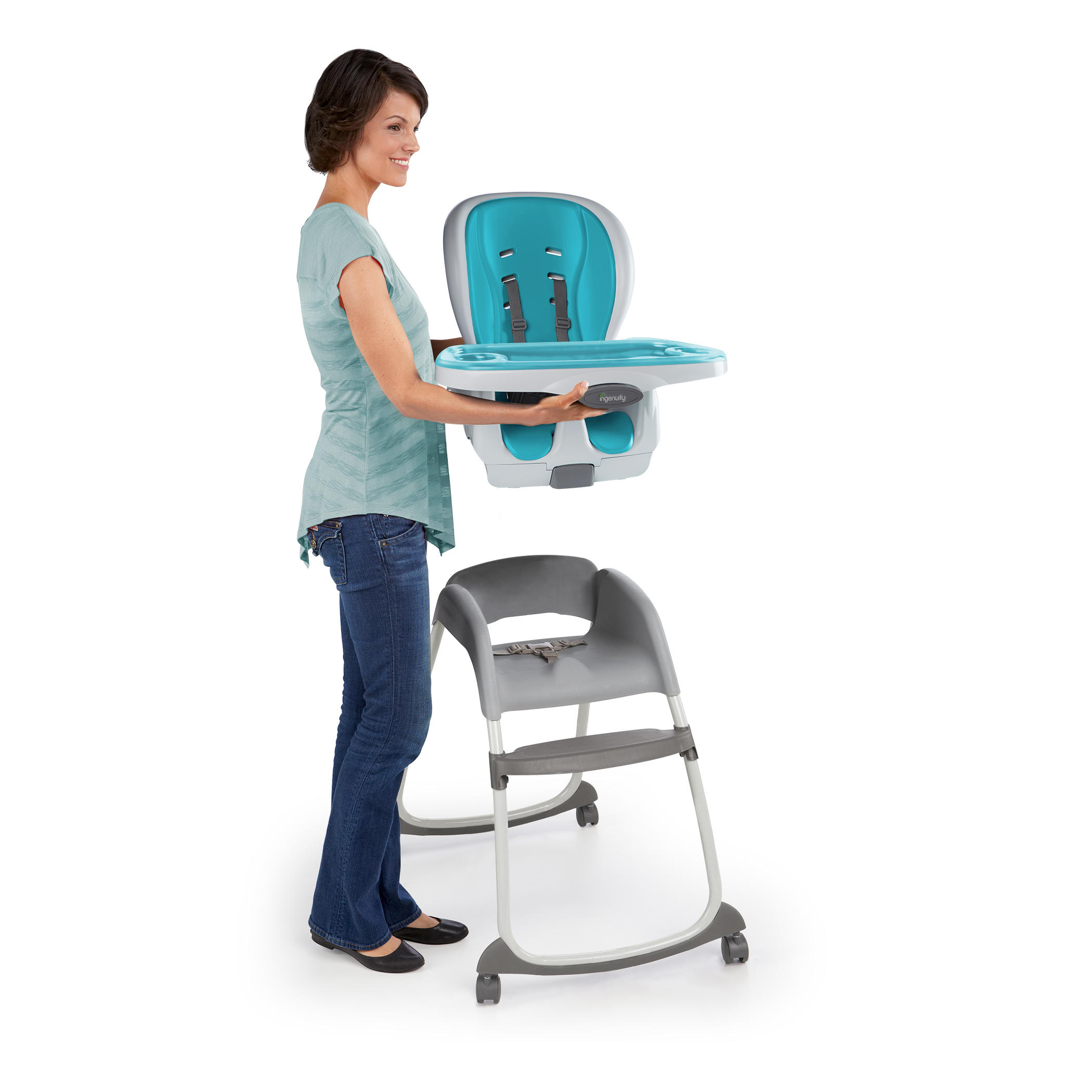 SmartClean Trio 3-in-1 High Chair - Aqua