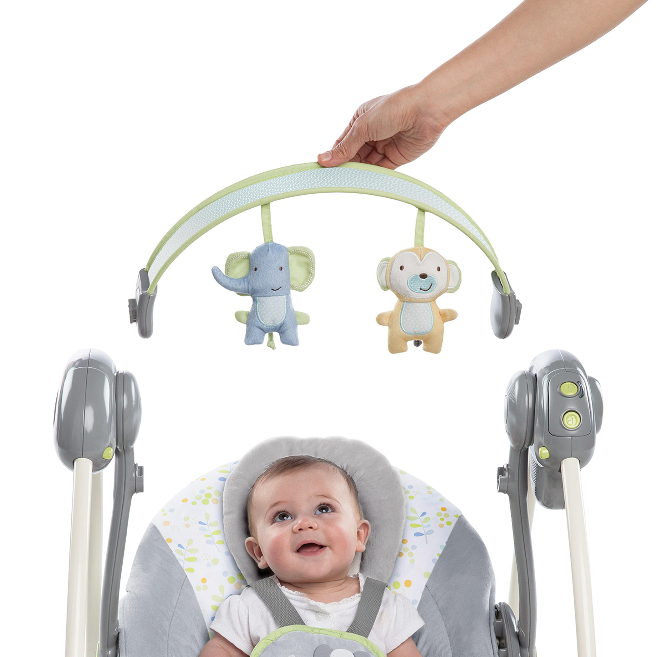Soothe 'n Delight Portable Swing - Buzzy Bloom™
