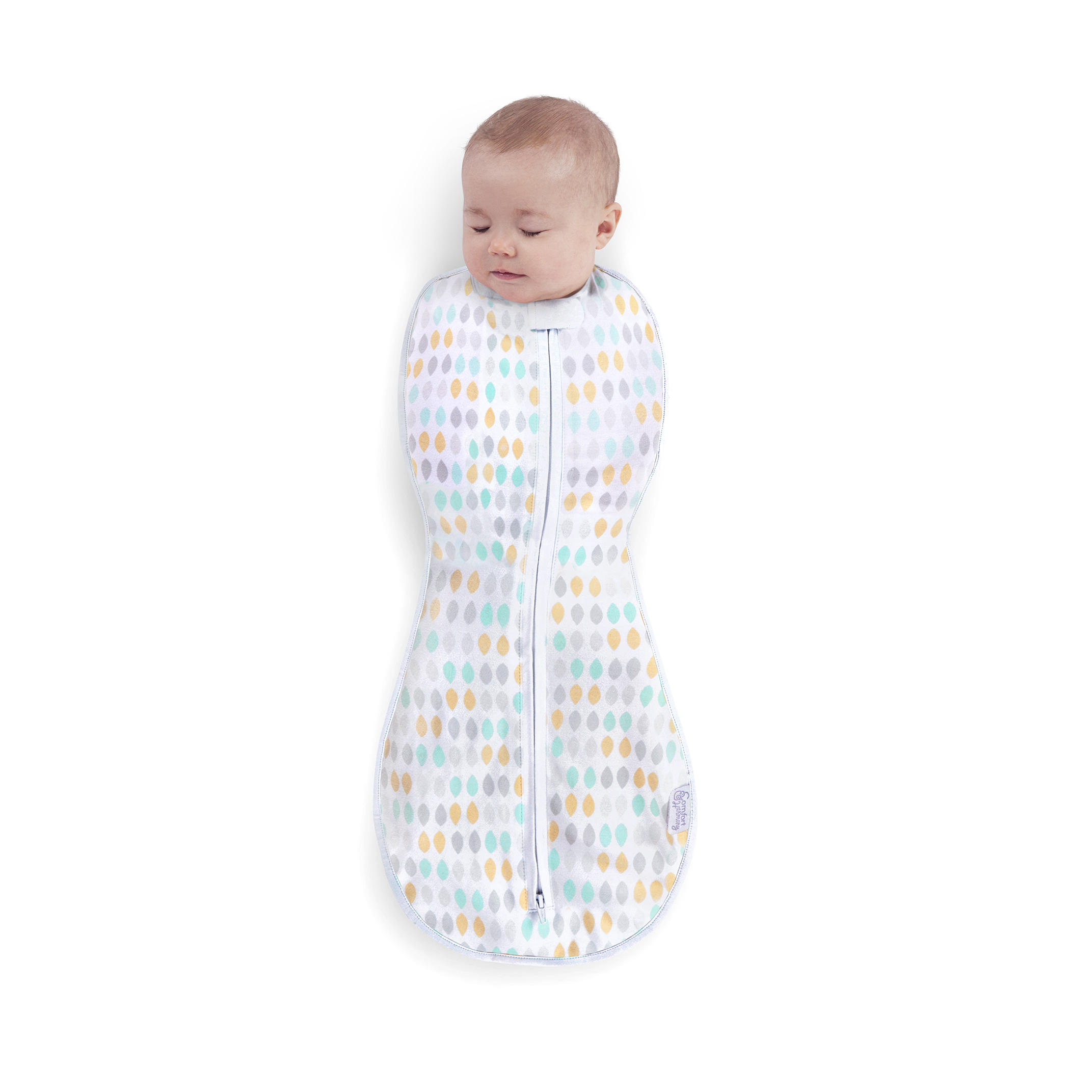 Woombie™ Perfect Peanut Swaddles™ - Restful Raindrops™ - 3-6 Months - 2-pack