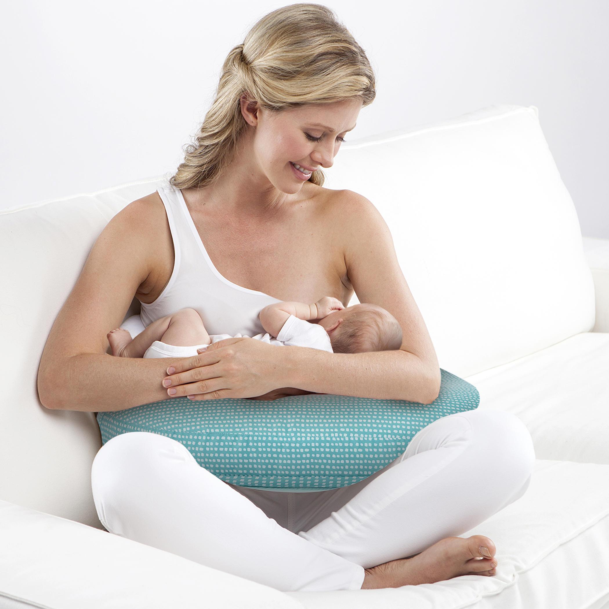 mombo™ Nursing Pillow - Teal Vine