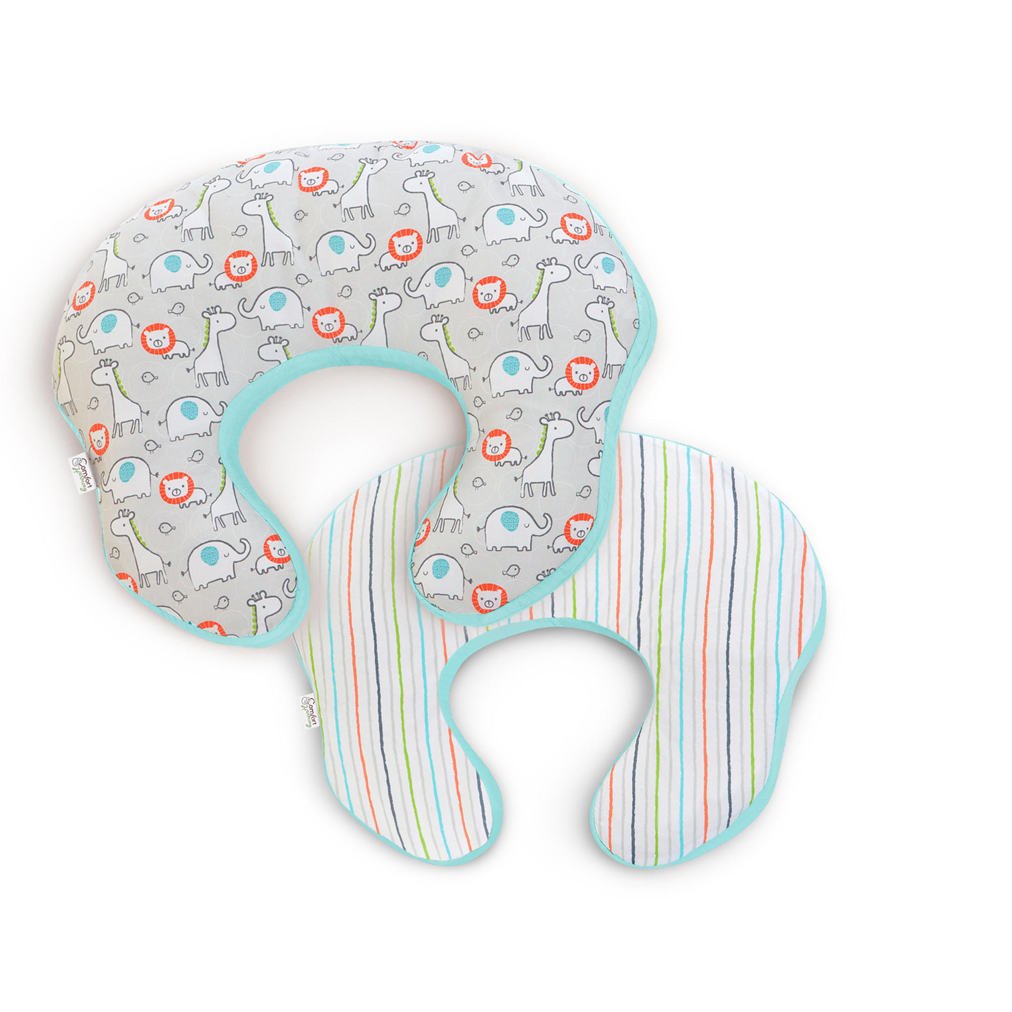 mombo™ Covered Nursing Pillow - Safari 'n Stripes™