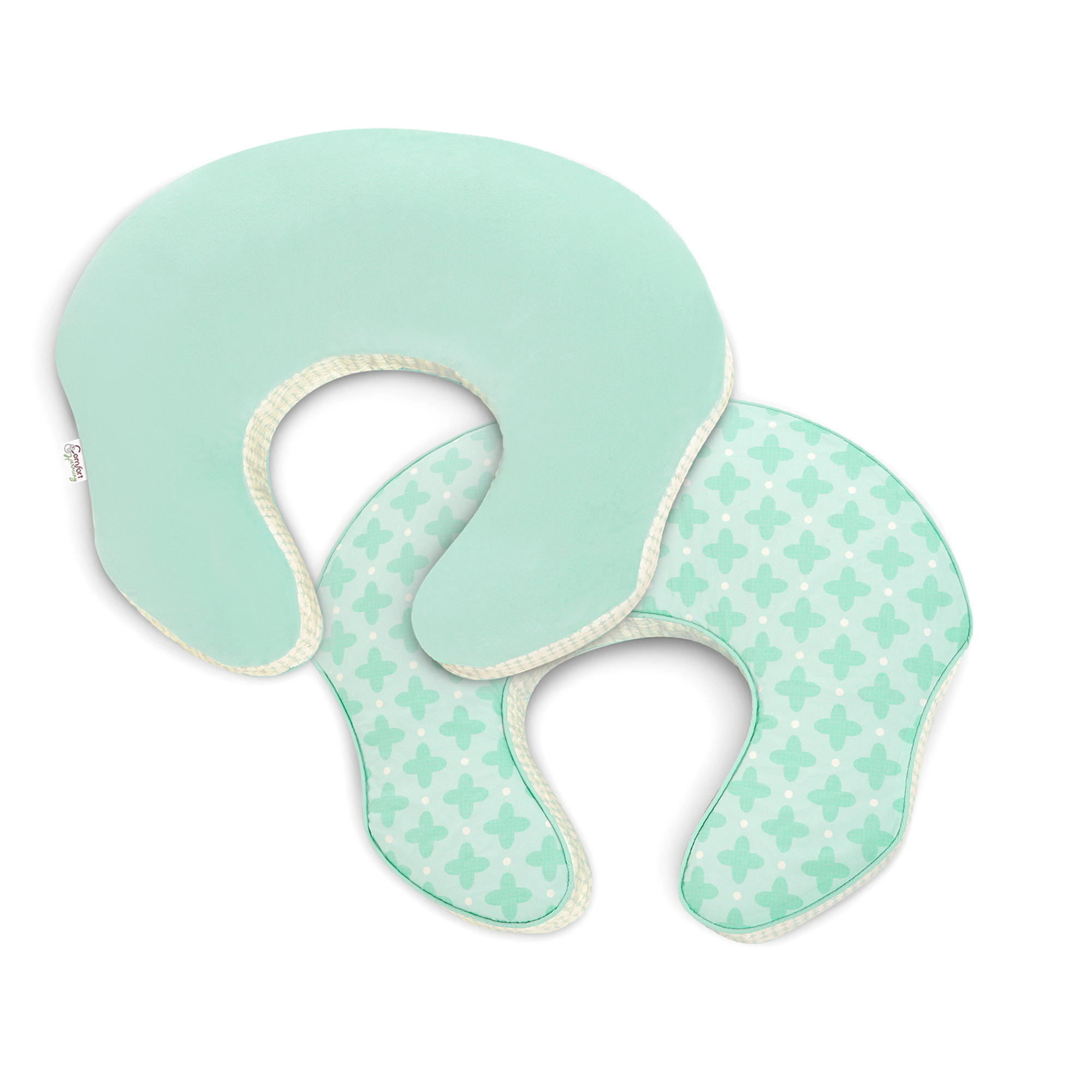mombo Deluxe™ Nursing Pillow Slipcover - Mint to be Sweet™