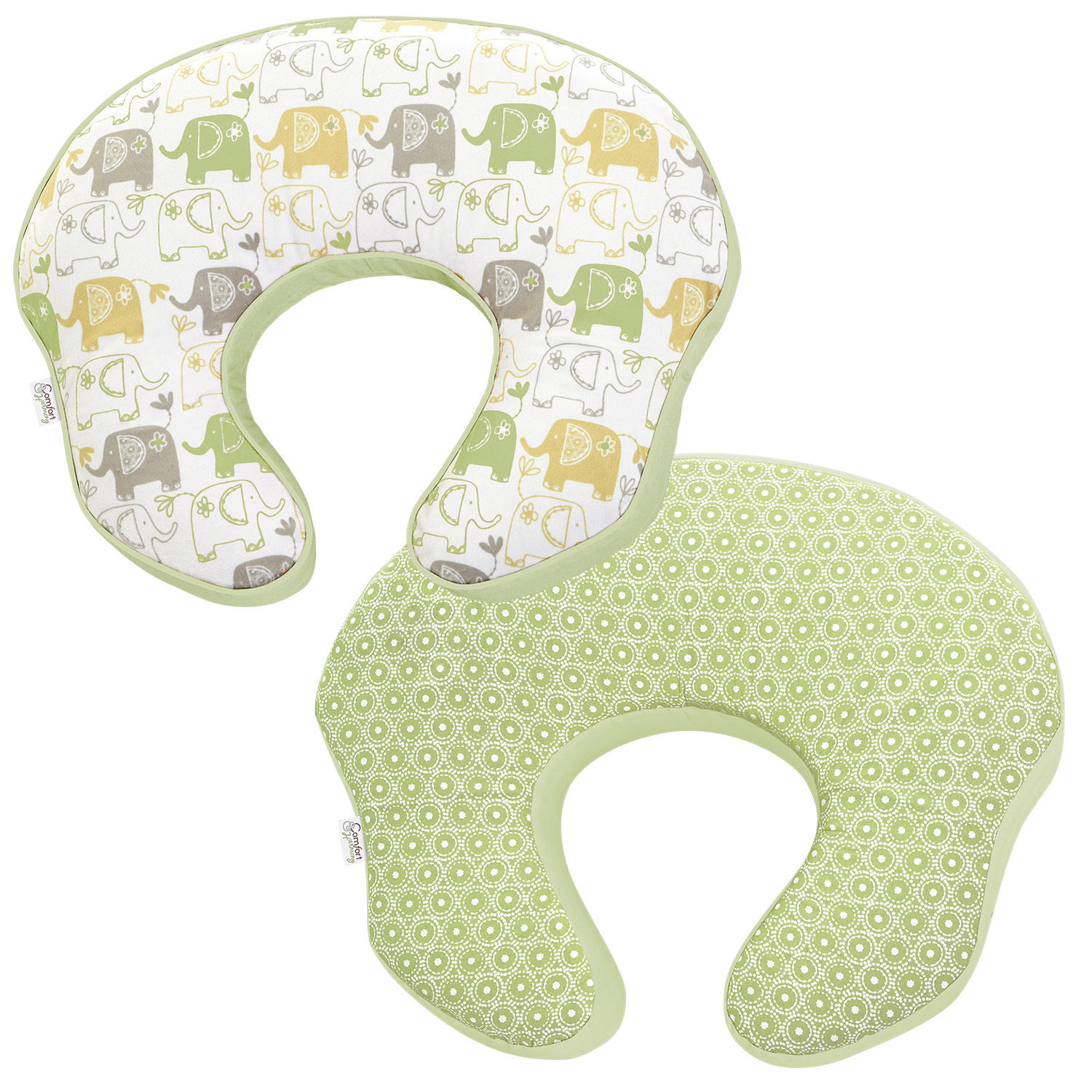 mombo Deluxe™ Covered Nursing Pillow - Enchanting Elephants™