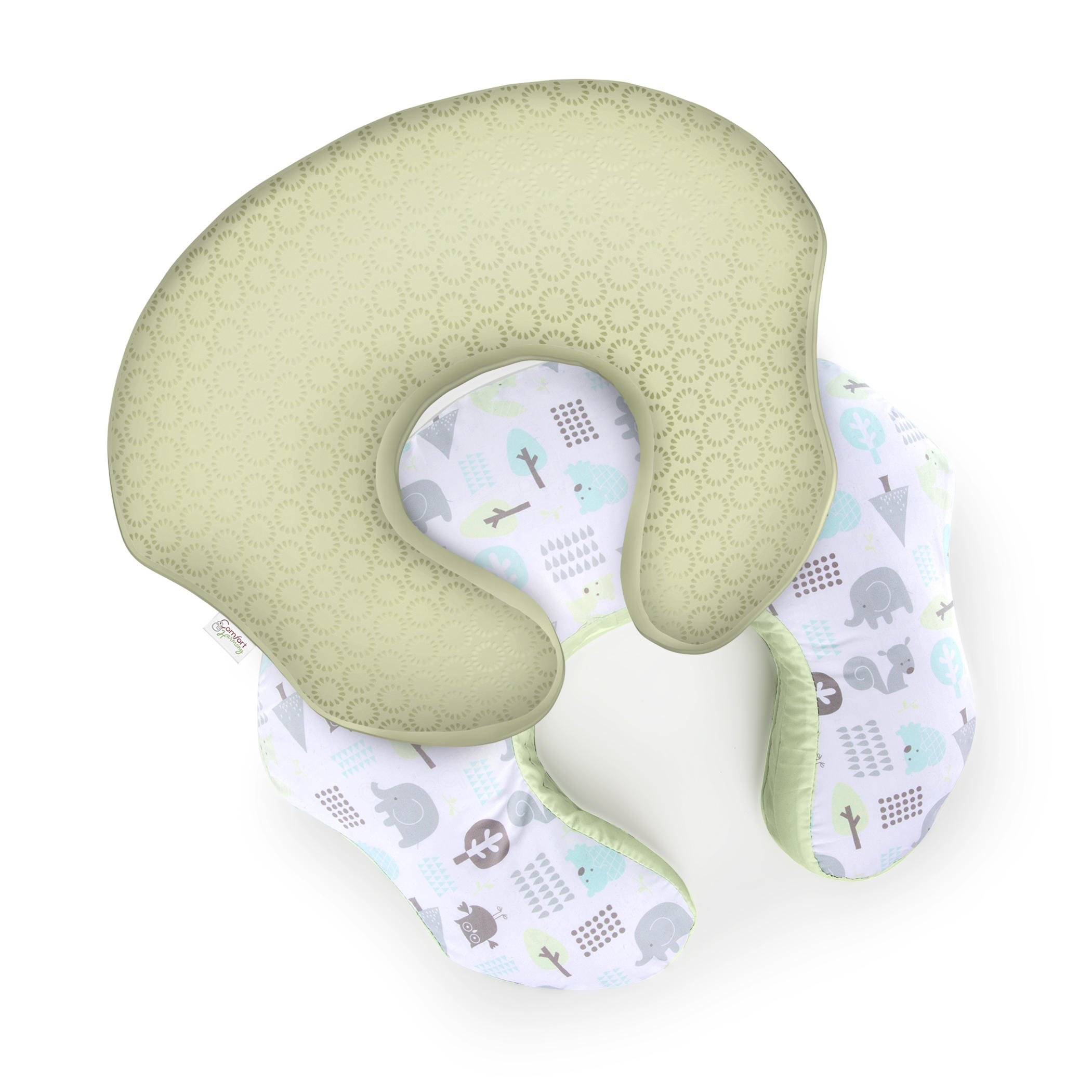 mombo Deluxe™ Nursing Pillow Slipcover - Forest Patterns™
