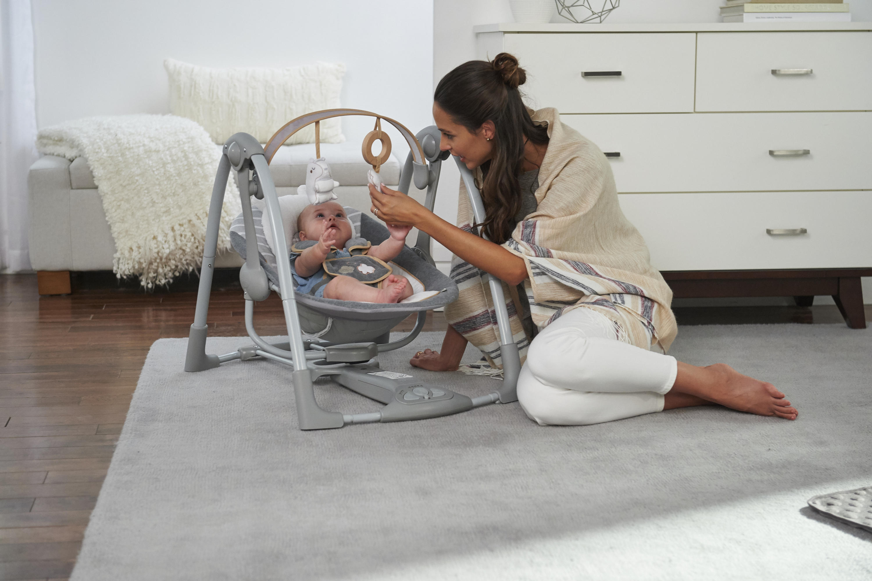 Boutique Collection™ Swing 'n Go Portable Swing™ - Bella Teddy™