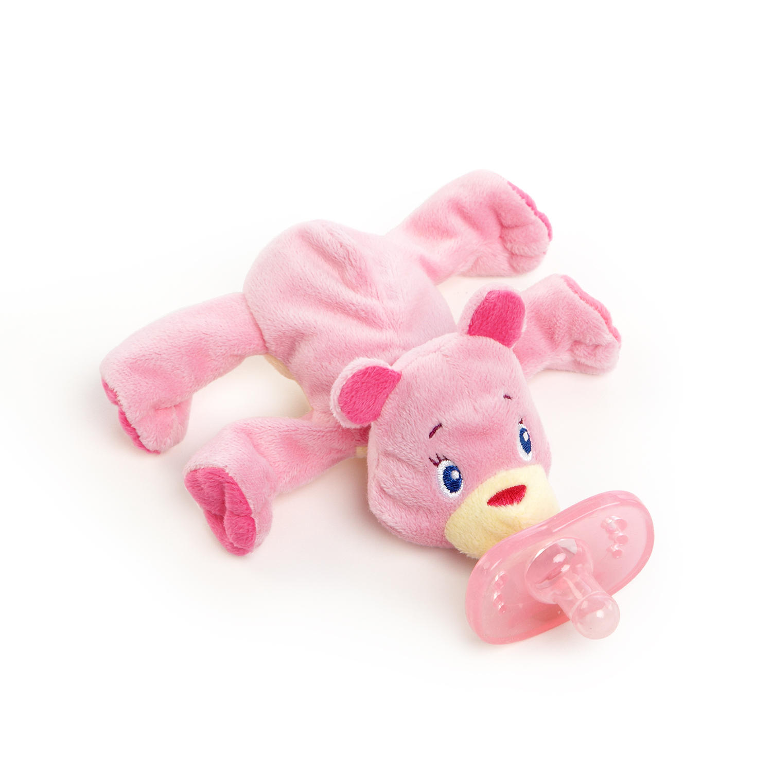 Cozy Coos Deluxe™ Pacifier– Pink Cub