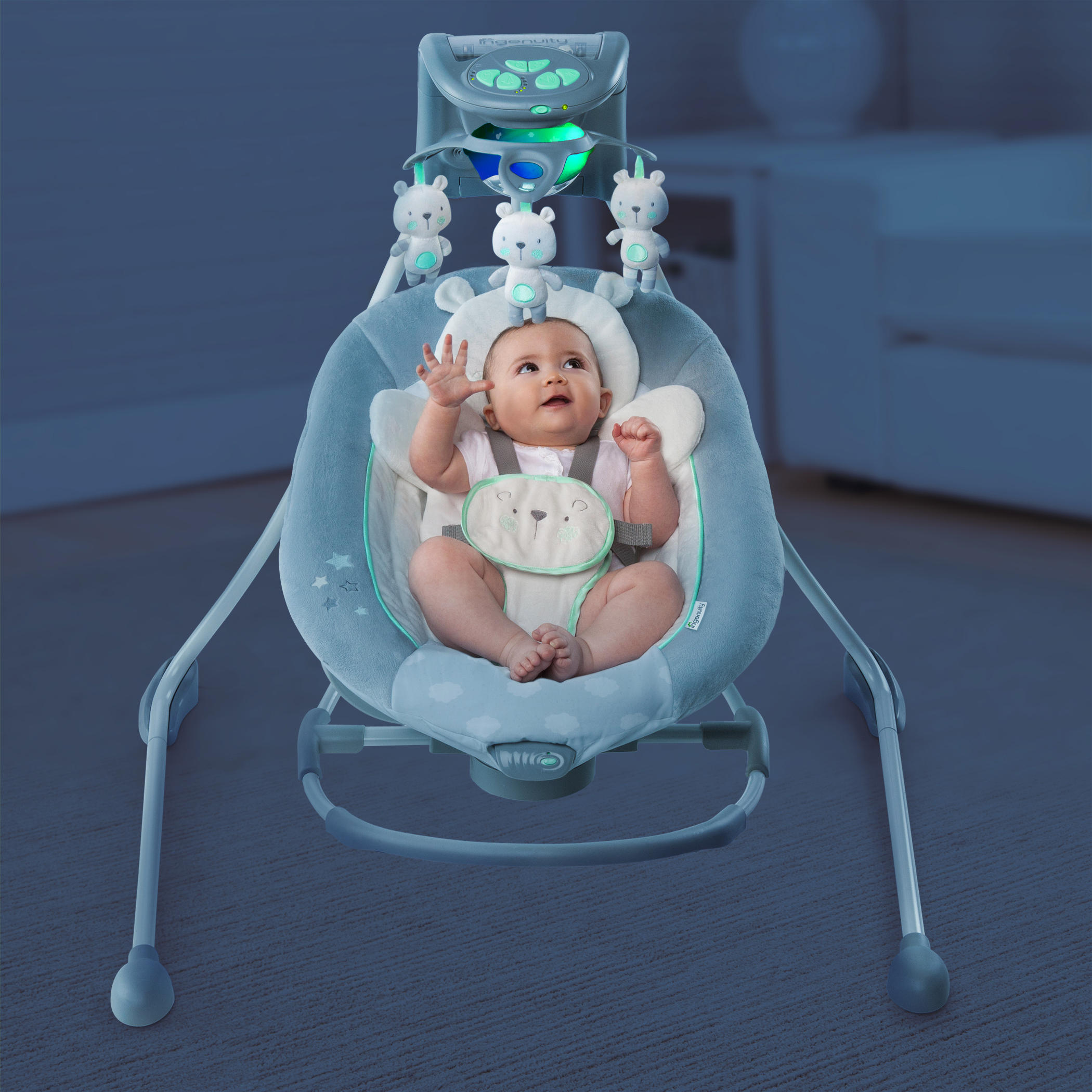 InLighten Cradling Swing & Rocker™ – Twinkle Twinkle Teddy Bear™