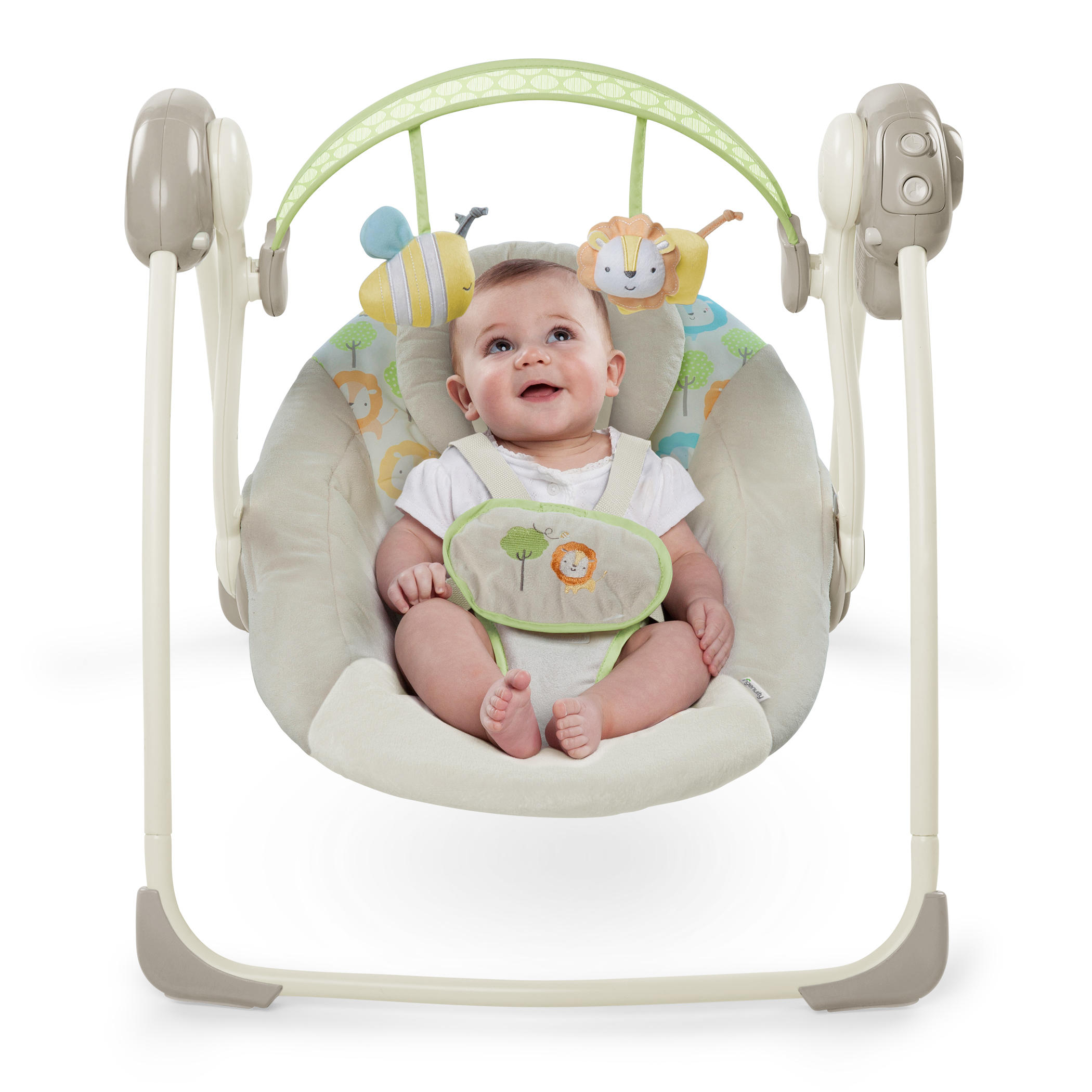 Soothe 'n Delight Portable Swing - Sunny Snuggles™