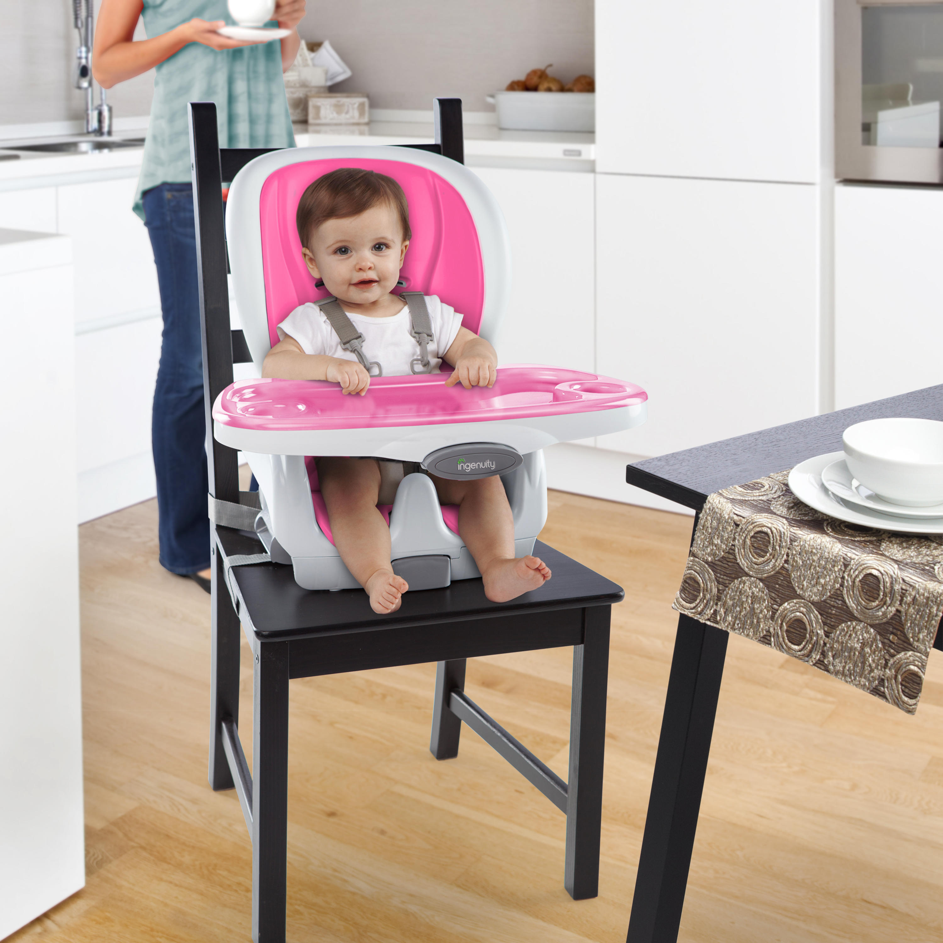 SmartClean™ Trio 3-in-1 High Chair™ - Magenta